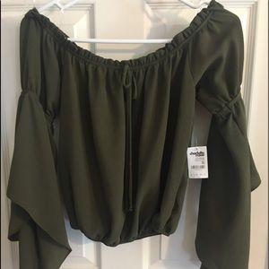 Charlotte Russe Green XS shirt
